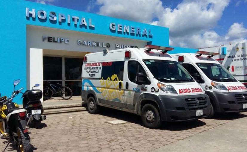 Los habitantes de las comunidades acuden al hospital de Felipe Carrillo Puerto. (Joel Zamora/SIPSE)