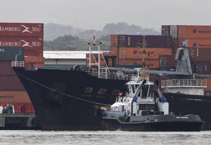 El buque identificado como Chong Chon Gan provenía de Cuba. (Agencias)