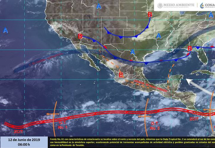 Varios estados continuarán afectados con la onda tropical que se desplaza por las costas de Guerrero. (Servicio Meteorológico Nacional)