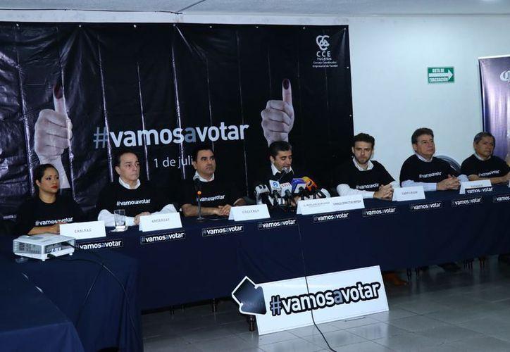 Esta mañana se presentó la campaña de la CCE. (Foto: Jorge Acosta/Milenio Novedades)