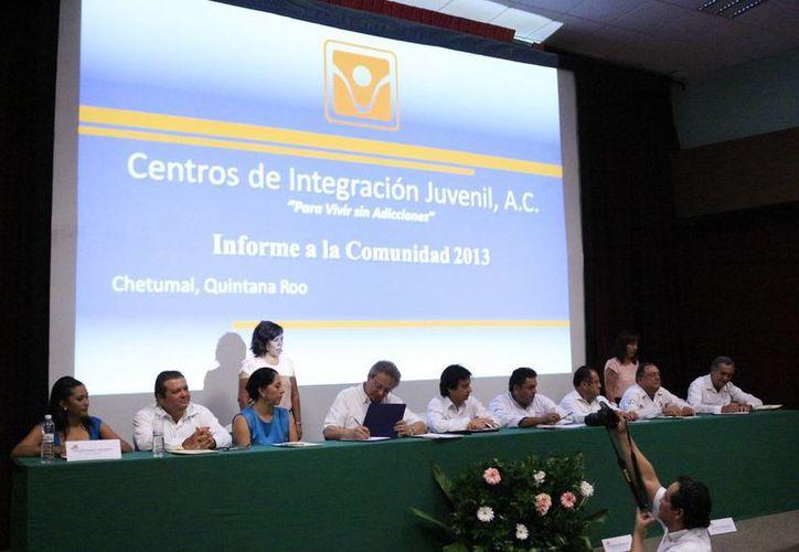 Durante el aniversario del Centro de Integración Juvenil, se destacó que 7.8% de los mexicanos han consumido alguna droga ilegal.  (Jorge Carrillo/SIPSE)