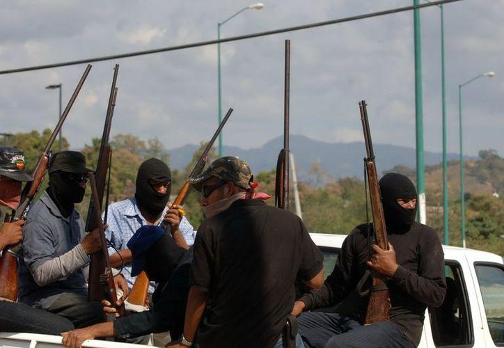 Alzamiento en armas de los habitantes de la Costa Chica de Guerrero. (Archivo Notimex)