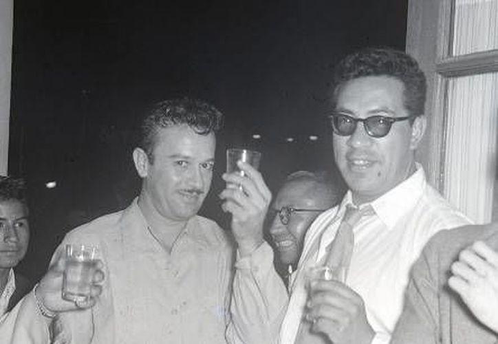 """Foto del actor en el hotel """"Bolívar"""" de Lima, Perú, donde había ofrecido un cóctel a la prensa especializada de Lima. (Archivo Histórico El Comercio)"""