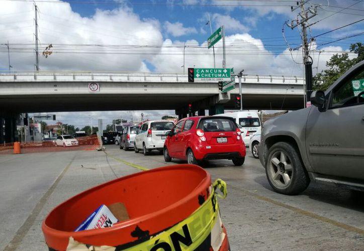 Se registraron algunos incidentes con riesgo de colisión entre los vehículo. (Daniel Pacheco/SIPSE)