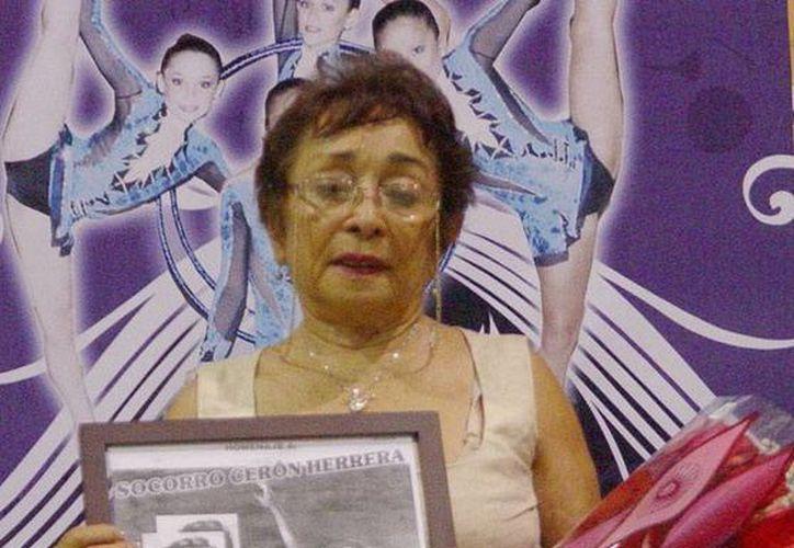 Socorro Cerón Herrera, impulsora de la gimnasia rítmica yucateca. (Milenio Novedades)