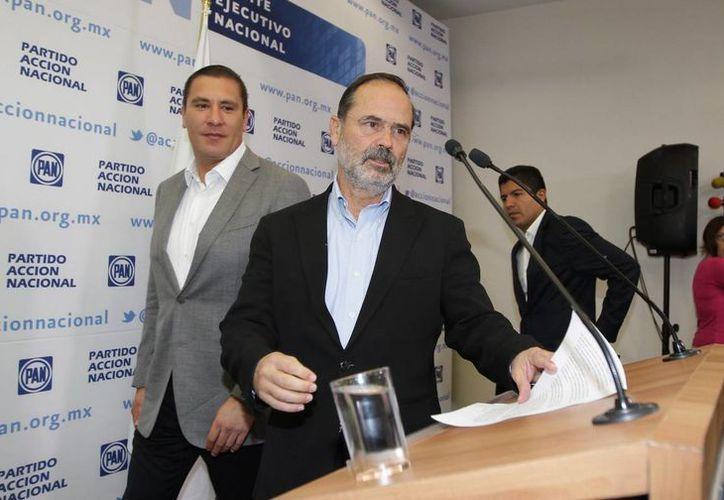 Esta noche darán a conocer su postura oficial. En la imagen, Gustavo Madero, presidente del PAN. (Archivo/Notimex)