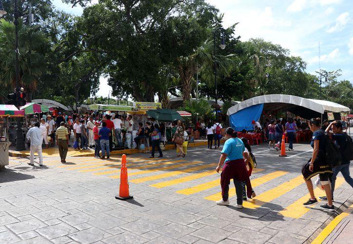 Para mejorar la calidad de los productos que se ofrece en el Programa Mérida en Domingo, el Ayuntamiento de Mérida gestionará cambios entre los comerciantes, peatones y vendedores.