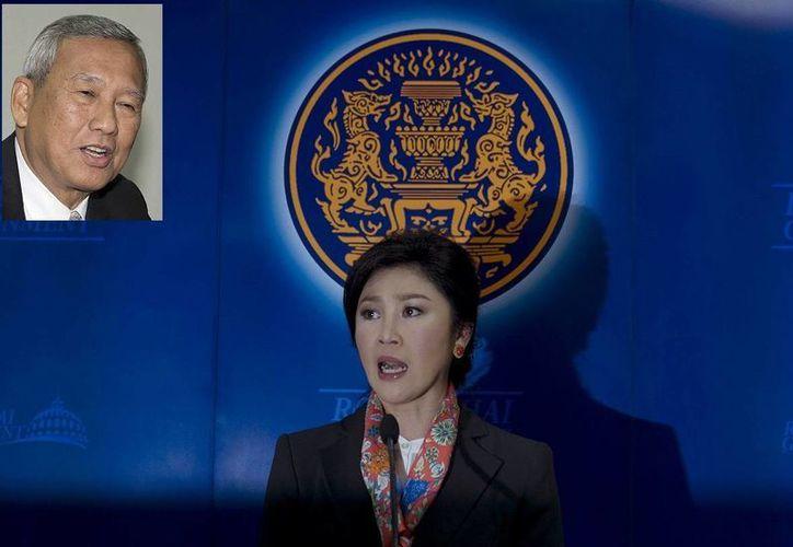 Niwatthumrong Boonsongpaisan (recuadro) es el recién nombrado primer ministro interino de Tailandia en sustitución de Yingluck Shinawatra. (Foto: AP)