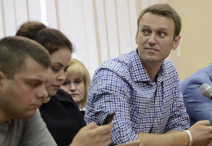 Alexei Navalny quedó en libertad con la condición de que no salga de Moscú. (EFE)