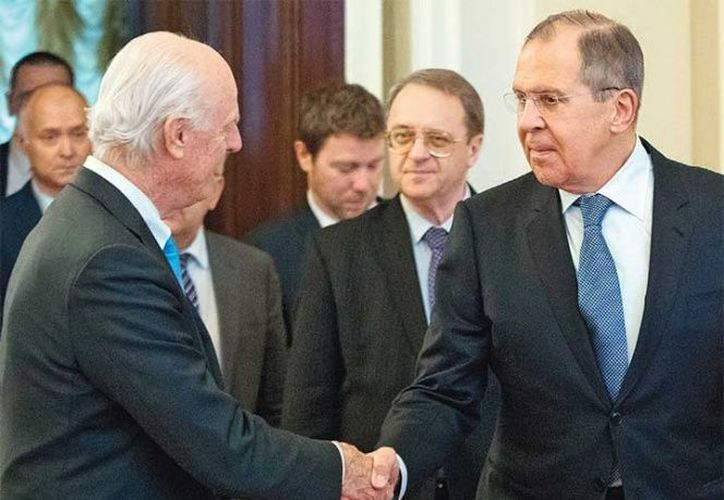 El ministro se reunió con el enviado especial de la ONU en Moscú. (excelsior.com)