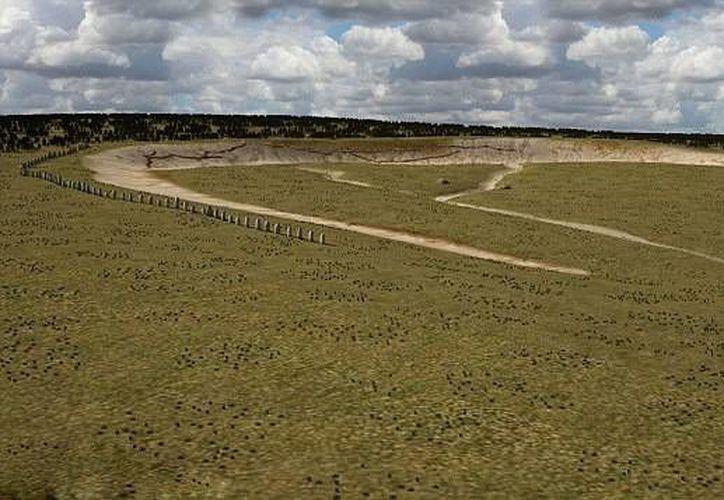 Arqueólogos pudieron encontrar los restos enterrados de un misterioso monumento prehistórico gracias a un sofisticado radar. (dailymail.co.uk)