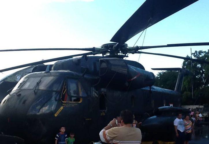 El helicóptero CH-53 es el más grande de la muestra Fuerzas Armadas... Pasión por México. (Cortesía)