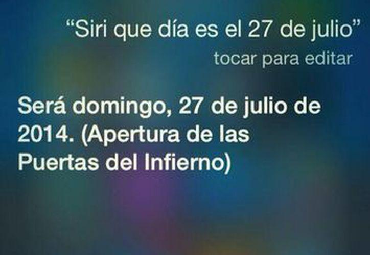 Usuarios de Twitter han publicado la predicción de Siri. (Foto: Twitter)
