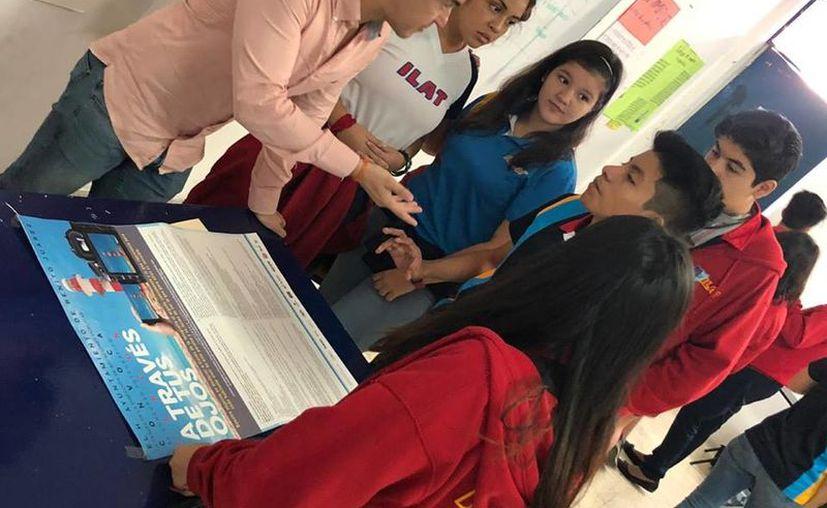 Visitan escuelas para invitar a los estudiantes a participar. (Faride Cetina/SIPSE)