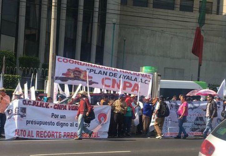 La Secretaría de Seguridad Pública informó que hubo al menos 2 mil manifestantes. (Milenio).