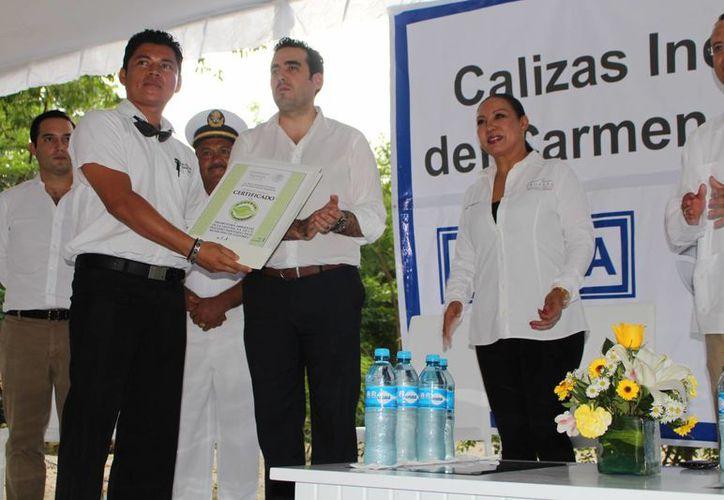 Calica fue una de las cuatro empresas que recibieron la certificación de la Profepa ayer. (Adrián Barreto/SIPSE)
