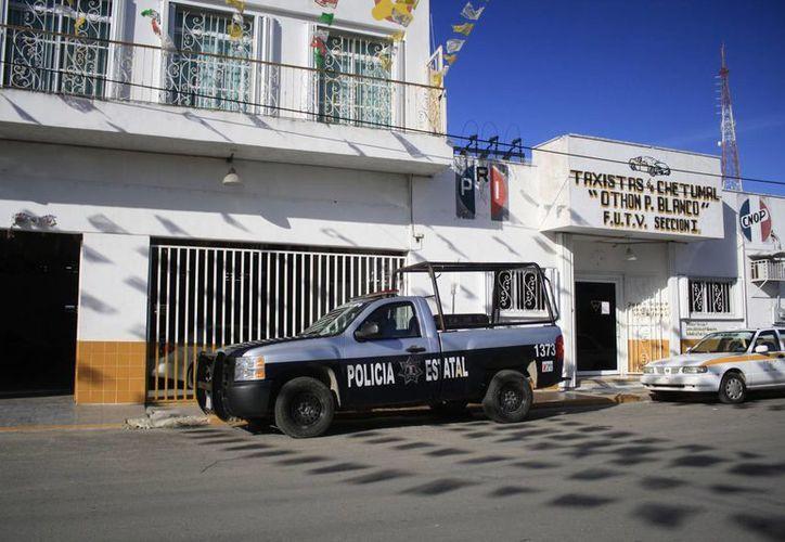 Los socios taxistas disidentes pactaron manifestarse de nueva cuenta frente a las oficinas del Suchaa. (Harold Alcocer/SIPSE)