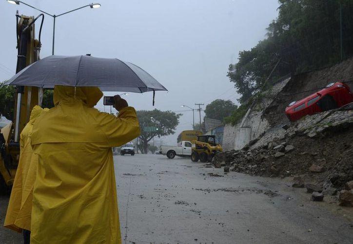Daños de la tormenta tropical 'Manuel' en Acapulco, Guerrero. (Agencias)