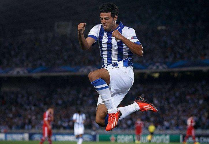 El mexicano Carlos Vela, que se ha perdido una buena parte del campeonato por lesiones, hizo un gol en la victoria de 3-0 de Real Sociedad sobre Levante en la Liga de España. (espndeportes.espn.go.com)