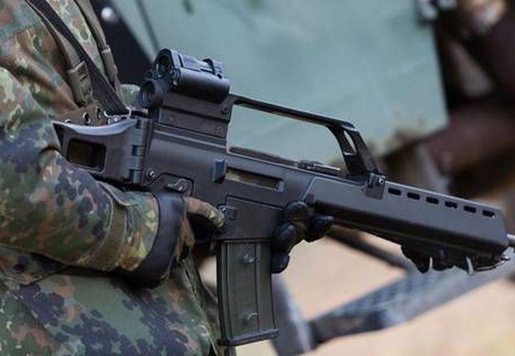 """Los fusiles G36 de Heckler & Koch están prohibidos en  estados """"de turbulencia"""" como Guerrero, Chiapas, Chihuahua y Jalisco. (Agencias/imagen estrictamente de contexto)"""