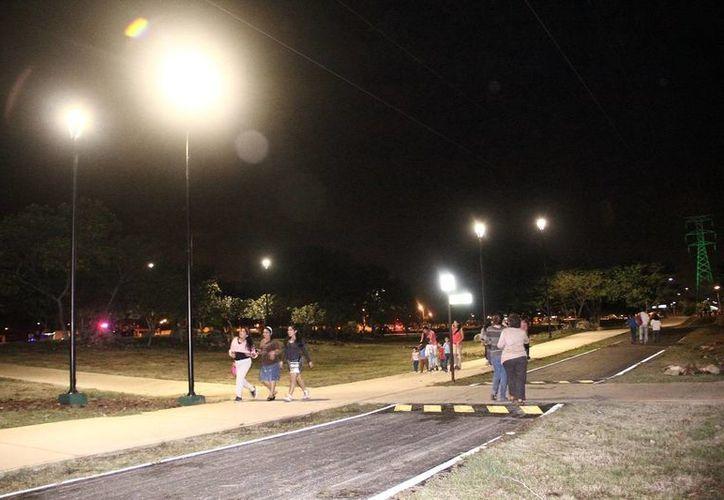 Las lámparas instaladas en el Paseo Verde son de iluminación LED de  última generación. (SIPSE)