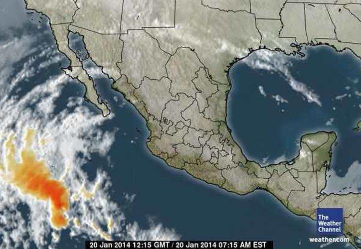 Un sistema anticiclónico débil  localizado sobre el Golfo de México, impulsa aire continental polar muy modificado hacia la Península de Yucatán. (Foto/espanol.weather.com)