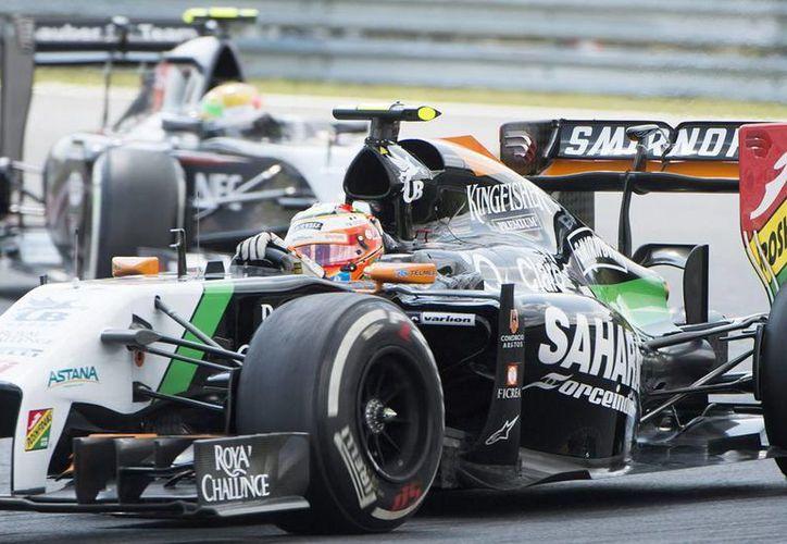 Sobre el incidente del GP húngaro, 'Checo' Pérez indicó que se queda con los elementos positivos del fin de semana, para volver a entrar en los puntos en la próxima carrera. (EFE)