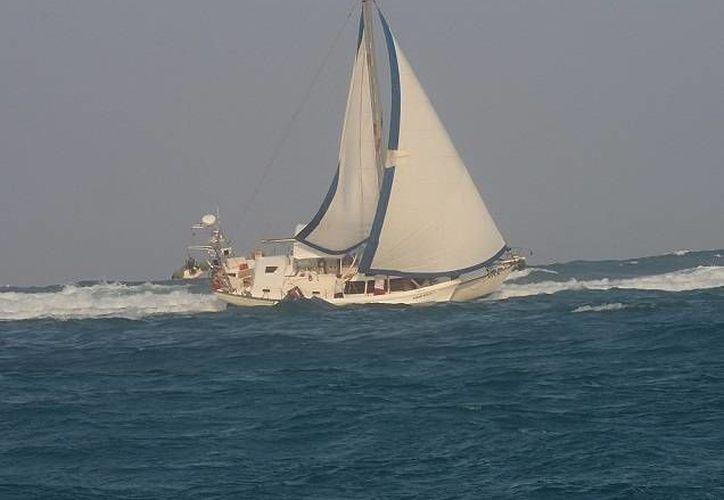"""La embarcación """"Summer Obsession"""" dañó 96 metros cuadrados de arrecife. (Claudia Martín/SIPSE)"""