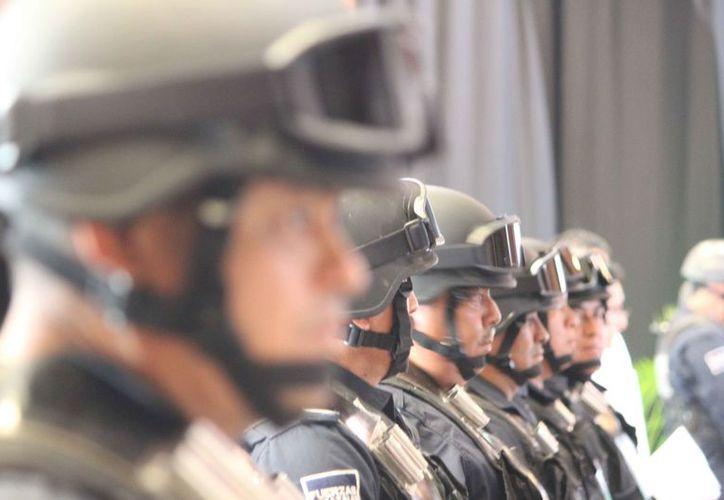 Las corporaciones se preparan para combatir la delincuencia en el estado. (Daniel Pacheco/SIPSE)