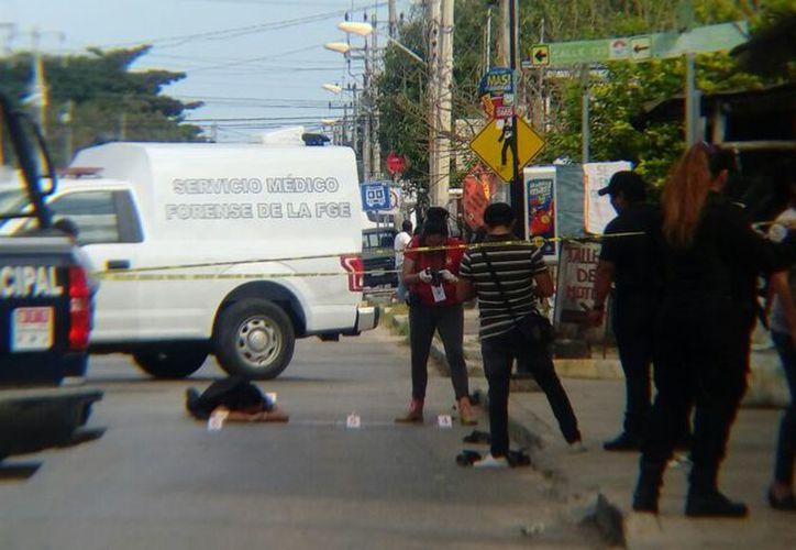 La ejecución se registró en la Región 101, sobre la avenida Talleres. (Eric Galindo/SIPSE)