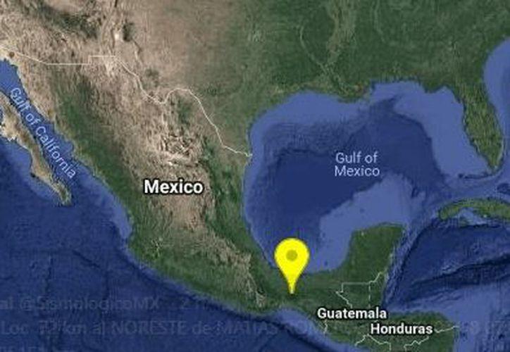 El movimiento telúrico se registró a 400 kilómetros al sur de Veracruz. (Twitter)