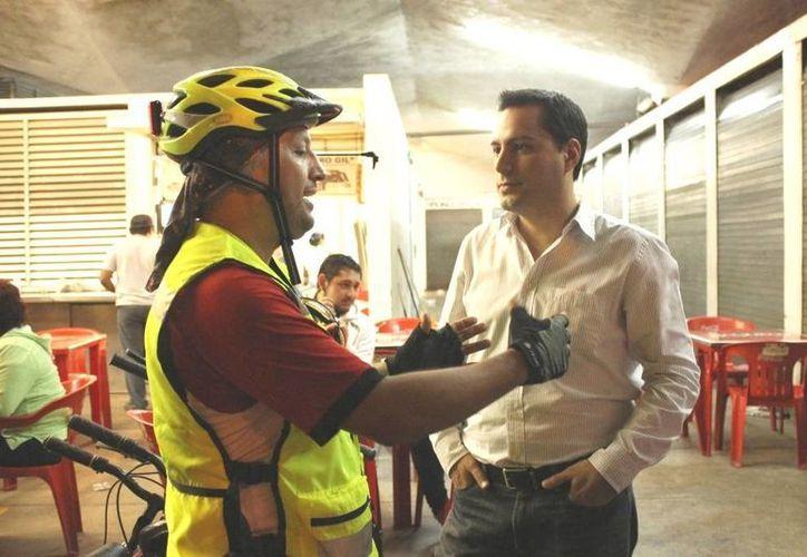 El diputado Mauricio Vila se une a una petición del Colectivo Cicloturixes. (Cortesía)