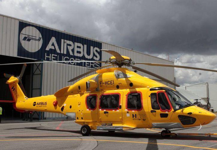 El H175 de Airbus Helicopters puede operar vuelos de larga distancia como de México a Monterrey y Ciudad del Carmen. (Notimex)