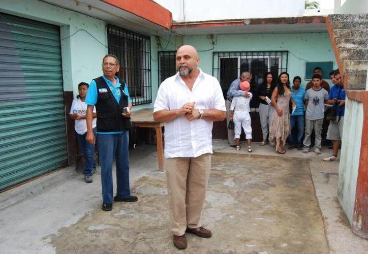 Debido a que las calles de Cancún se han visto afectadas por las lluvias, suspenden las caminatas de campaña. (Tomás Álvarez/SIPSE)