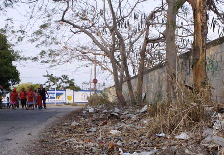 Los vecinos denuncian que en la colonia Díaz Ordaz muchas calles carecen de aceras y otras no están ni siquiera pavimentadas. (SIPSE)