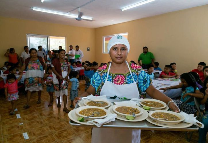 Este es uno de los dos Espacios de Alimentación, Encuentro y Desarrollo que estrena Hoctún. (Fotos cortesía del Gobierno de Yucatán)