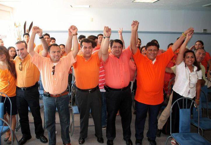 Presentación de precandidatos del partido Movimiento Ciudadano. (Julián Miranda/SIPSE)