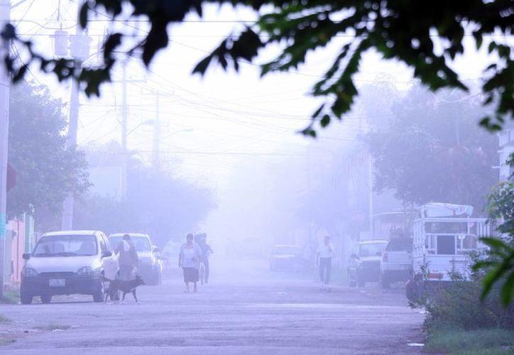 La neblina no solo afectó este martes a los meridanos que trabajan en la ciudad, sino a quienes pretendían tomar vuelos, pues el aeropuerto debió suspenderlos. (SIPSE)