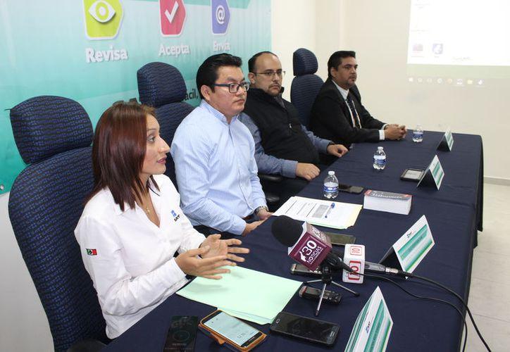 En conferencia de prensa, informaron que para facilitar el proceso de declaración, la autoridad utiliza la información disponible en su base de datos para llenar los formatos. (Joel Zamora/SIPSE)