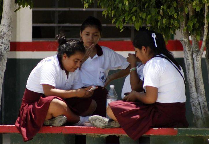 La mayoría de los menores de edad utilizan estos equipos para juegos, chat o revisar las redes sociales. (Harold Alcocer/SIPSE)