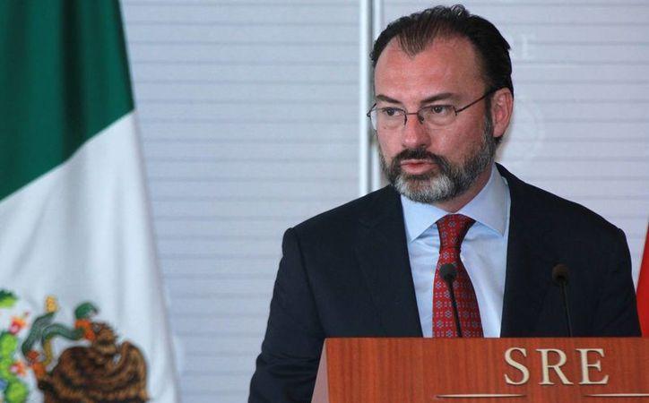 El titular de la Secretaría de Relaciones Exteriores, Luis Videgaray Caso, llegó el martes por la noche a Washington. (Archivo/Notimex)