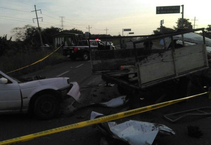 El accidente ocurrió en la carretera Chetumal- Escarcega. (Redacción/ SIPSE)