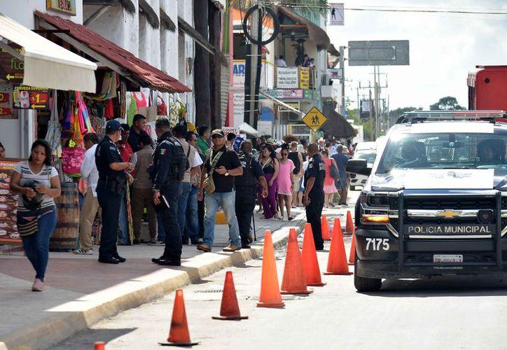 Implementaron un operativo en la zona turística de la isla. (Gustavo Villegas/SIPSE)