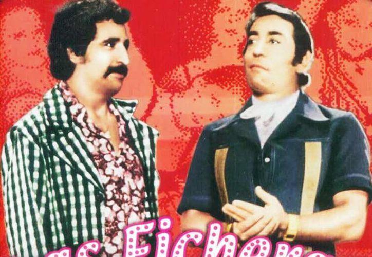 El productor Guillermo Calderón llevó al cine lo mejor del teatro, los comediantes y las vedettes que estaban en los cabarets. En la imagen, Rafael Inclán y 'Lalo El Mimo'. (cinescopia.com)