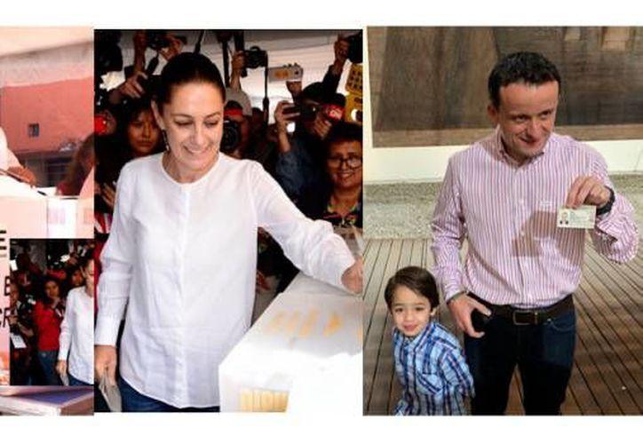 Tres aspirantes a la jefatura de gobierno de la Ciudad de México ya emitieron su voto. (SDP Noticias)