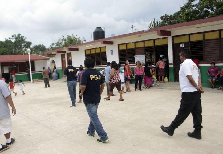 El incidente requirió la presencia de elementos de seguridad pública municipal. (Christian Ayala/SIPSE)