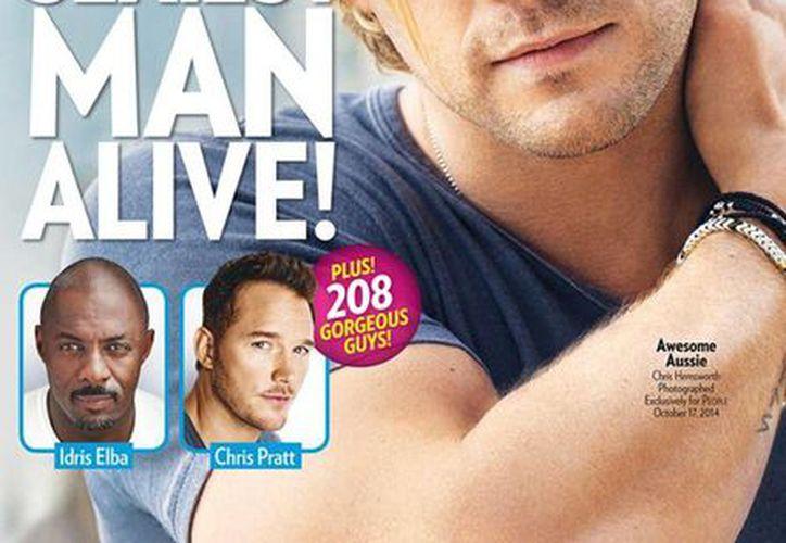 Chris Hemsworth, quien interpreta a 'Thor' en las cintas de Marvel, es el hombre más sexy del año. (People)