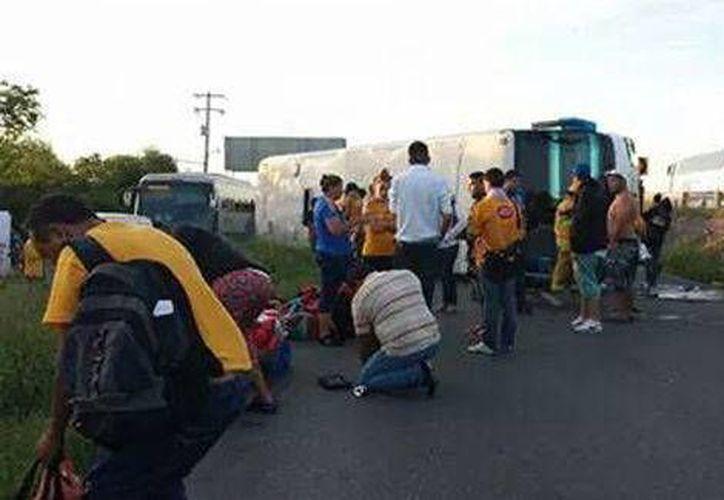 El accidente de aficionados de Tigres de la UANL ocurrió porque dormitó el chofer del autobús en el que viajaban de Veracruz a Nuevo León. (Milenio)
