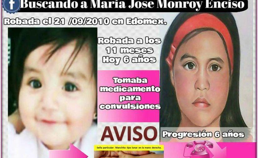 La madre de María José Monrroy, solicitó información para realizar los trámites y estudios necesarios para saber si se trata de ella. (Facebook)