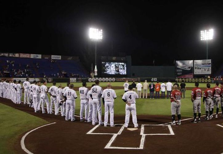 El primer juego de los playoff en la zona sur se jugó en el Estadio de Béisbol Beto Ávila. (Redacción/SIPSE)